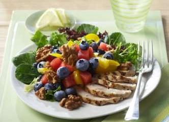 Pollo asado con ensalada de blueberry