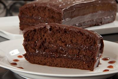 Pastel de chocolate y frambuesa
