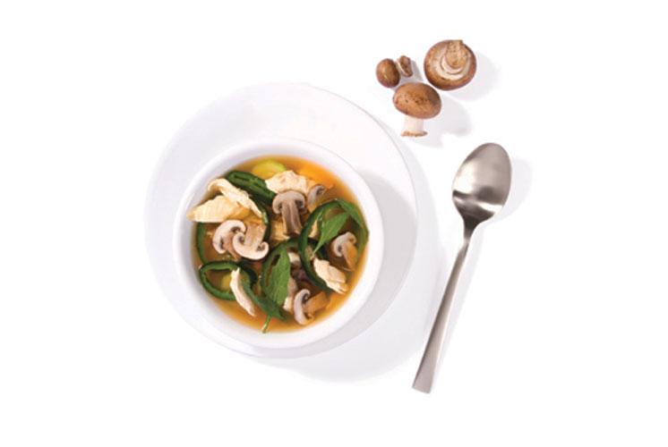 Sopa-de-hongos-y-pollo