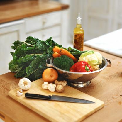 Cocina platillos vegetarianos