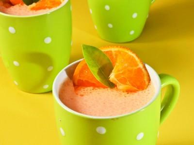 Gelatina de naranja con queso