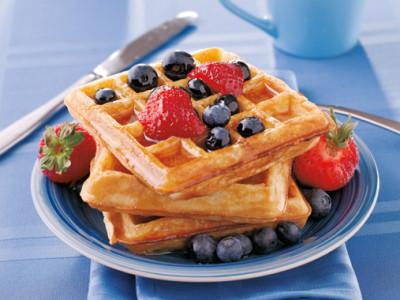 Waffles con frutos rojos