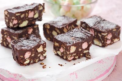 Brownies de malvavisco