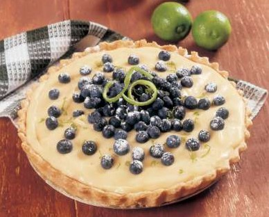 Tarta de limón con blueberries