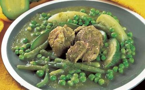 Carne de cerdo en salsa verde