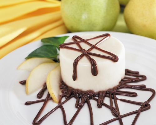 Espuma de pera y chocolate