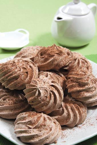Merengues de chocolate