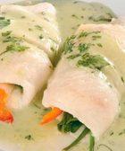receta de filetes de pescado rellenos