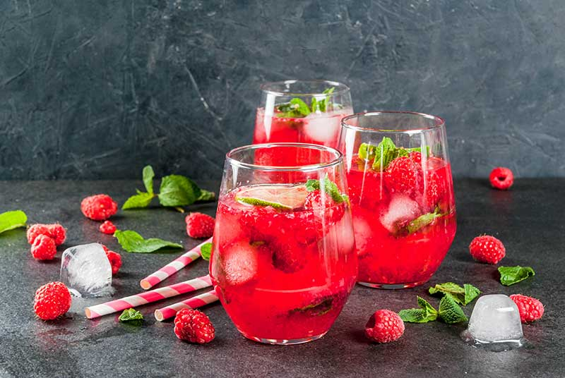 Receta de coctel Raspberry Ale