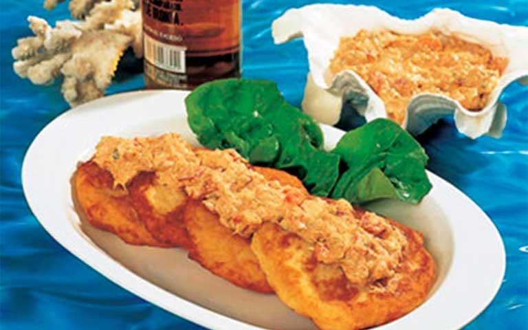 Receta de Tortitas de papa con salsa de atún