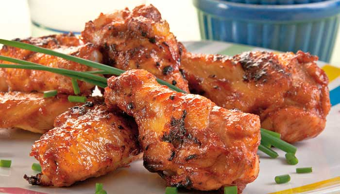 Receta de alitas de pollo con aderezo ranch