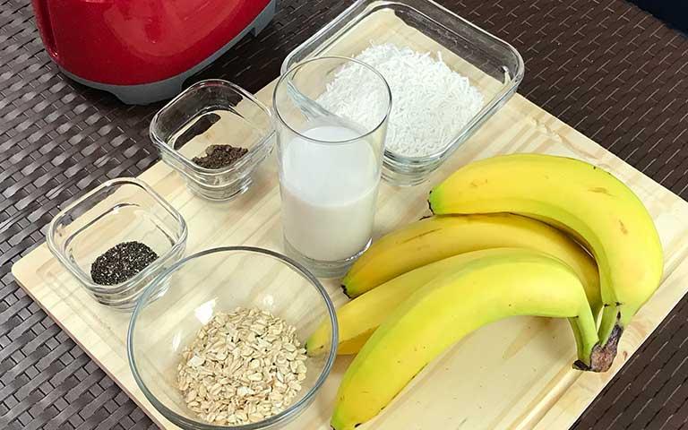 Smoothie de avena y plátano