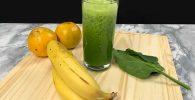 Juego verde de espinaca y naranja
