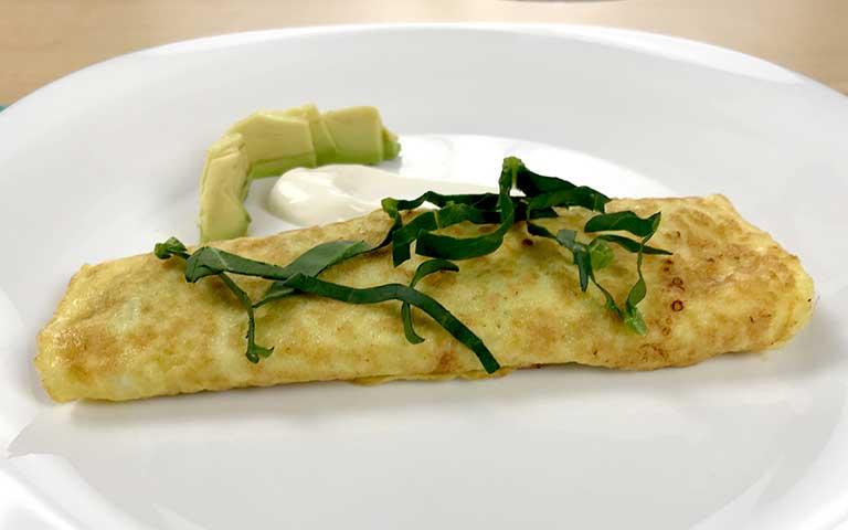 Omelette de espinacas a la crema