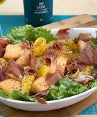 Receta de ensalada de jamón serrano, melon y naranja