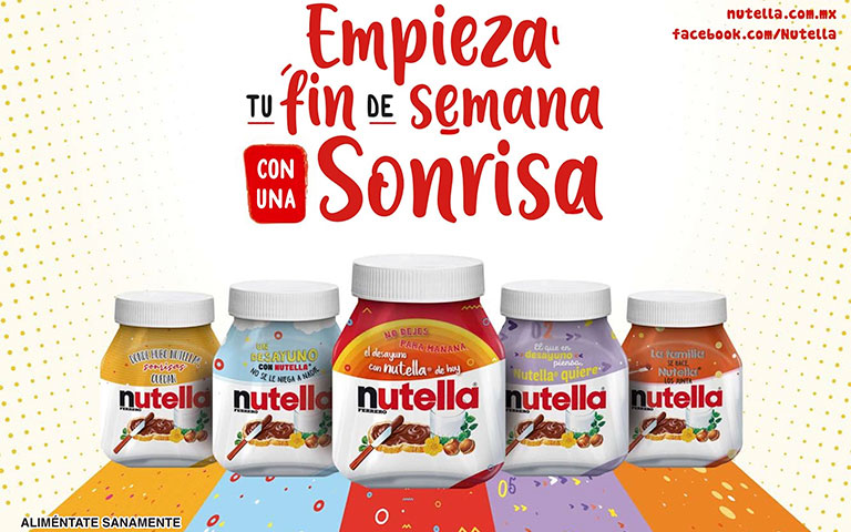 Nutella lanza 5 tarros edición especial con increíbles colores y frases