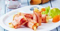 Receta de Rollitos de jamón con papas