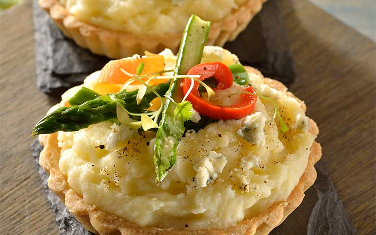 Receta con Tartas de papa con verdura