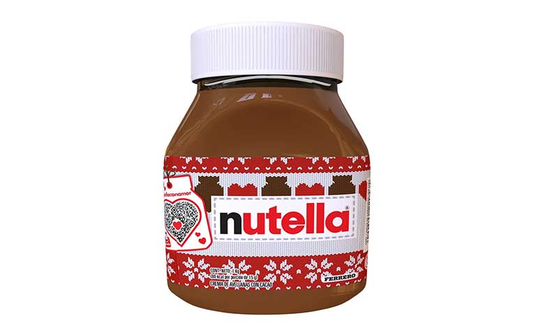 Nutella tarro navideño