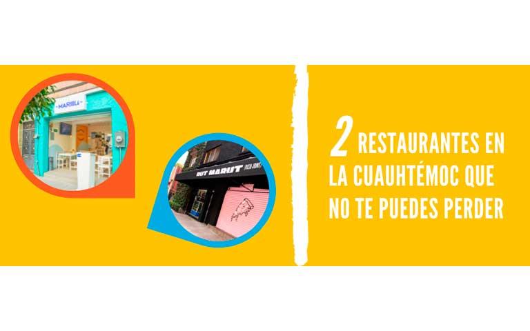 2 Restaurantes en la Cuauhtémoc