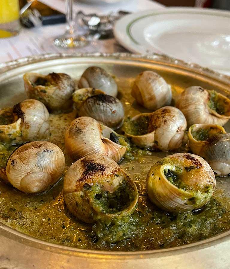 Escargots de Borgoña en su Concha
